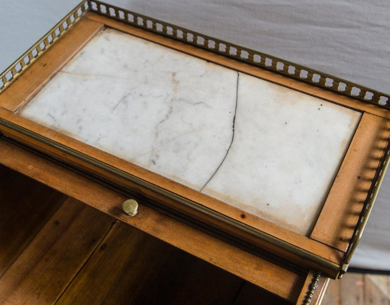 Hand-Crafted Antique French Directoire Miniature  Roll Top Desk For Sale