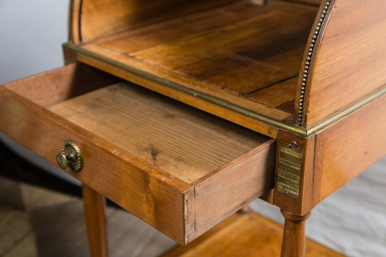 19th Century Antique French Directoire Miniature  Roll Top Desk For Sale