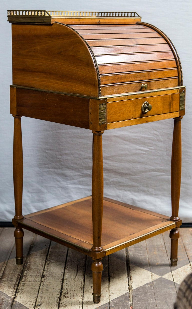 Antique French Directoire Miniature  Roll Top Desk For Sale 2
