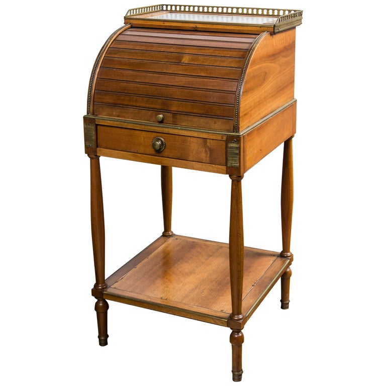 Antique French Directoire Miniature  Roll Top Desk For Sale