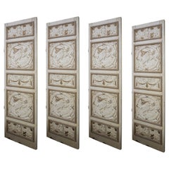 Antique French Divider Doors, Set of 4