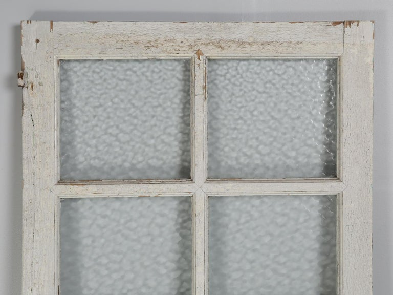 Antique French Door in Old Paint For Sale 5