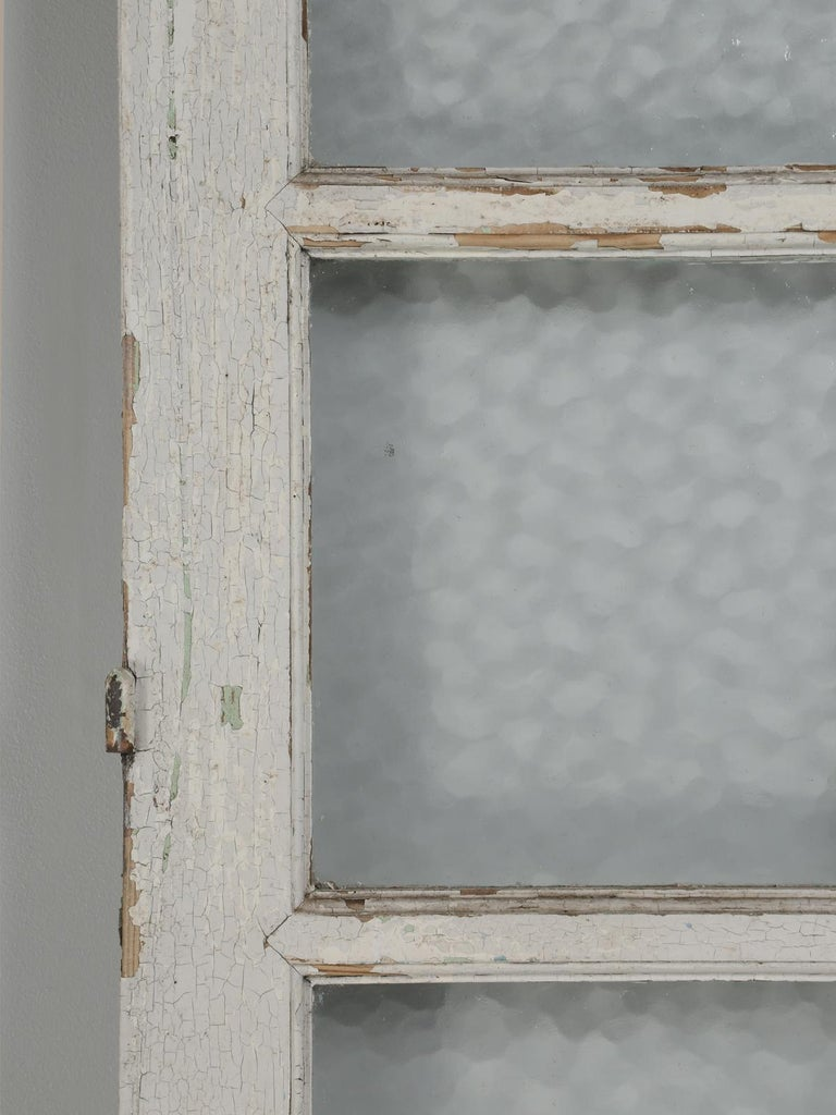 Antique French Door in Old Paint For Sale 6