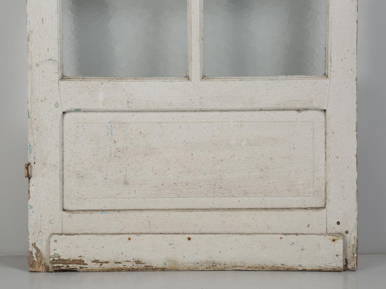 Antique French Door in Old Paint For Sale 8