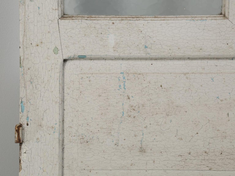 Antique French Door in Old Paint For Sale 9