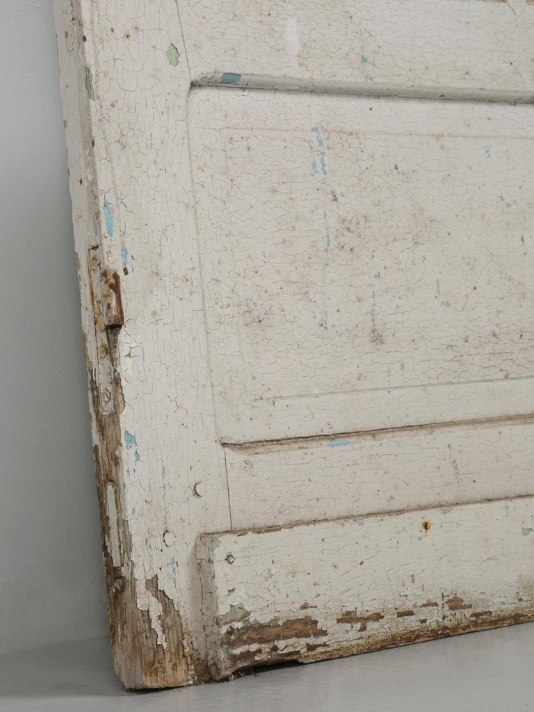 Antique French Door in Old Paint For Sale 10