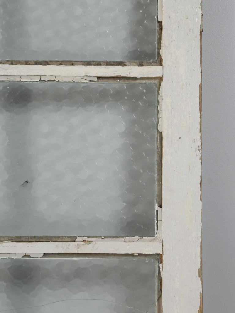 Antique French Door in Old Paint In Fair Condition For Sale In Chicago, IL