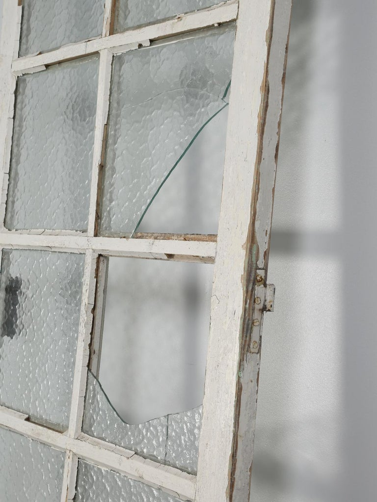 Early 20th Century Antique French Door in Old Paint For Sale