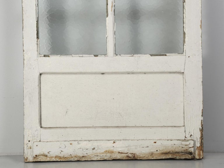 Antique French Door in Old Paint For Sale 2