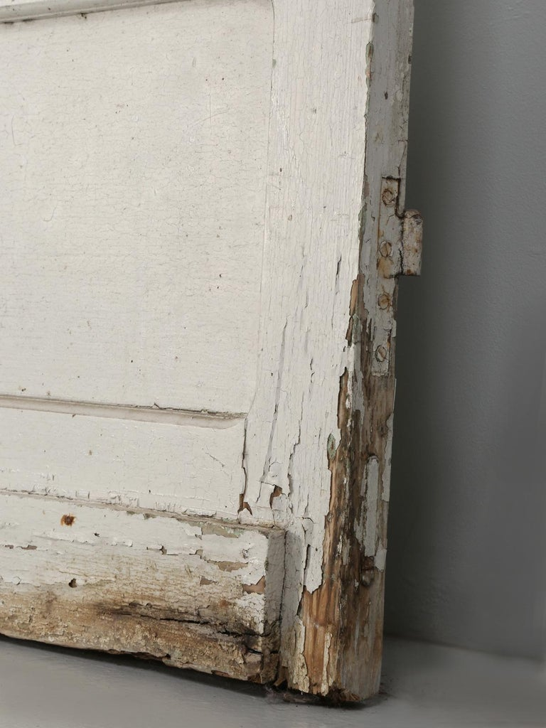 Antique French Door in Old Paint For Sale 3