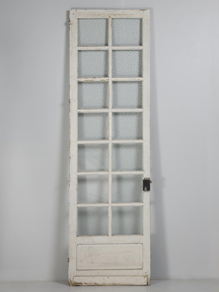 Antique French Door in Old Paint For Sale 4
