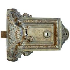 Antique French Door Rim Lock