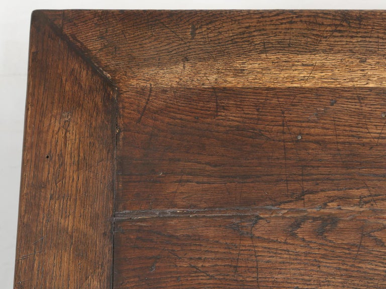 Oak Antique French Drapers Table or Store Counter For Sale