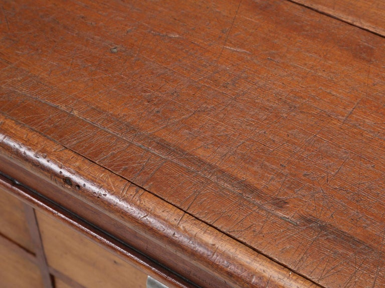 Hand-Crafted Antique French Drapers Table or Très Grand Kitchen Island, circa 1900-1920 For Sale