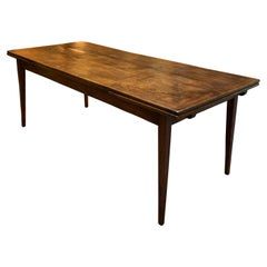 Antique French Draw-Leaf Dining Table on Taper Legs