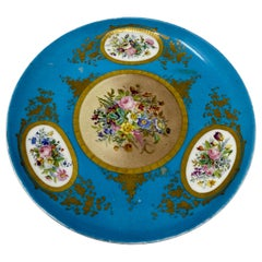 Antique French Early 19th Century Sèvres Plate, circa 1820-1830