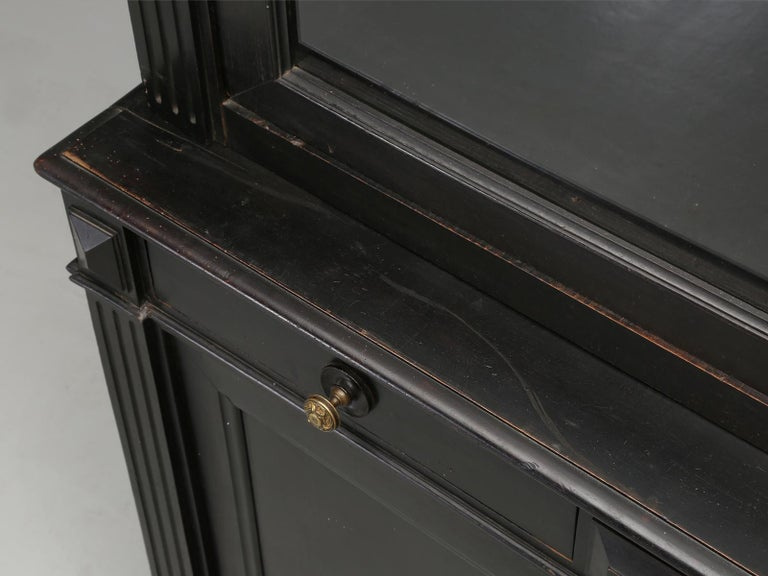 Antique French Ebonized Bookcase that is 100% Original, Including the Finish For Sale 4