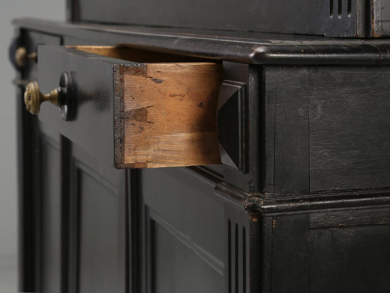 Antique French Ebonized Bookcase that is 100% Original, Including the Finish For Sale 6