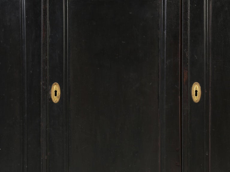 Antique French Ebonized Bookcase that is 100% Original, Including the Finish For Sale 10