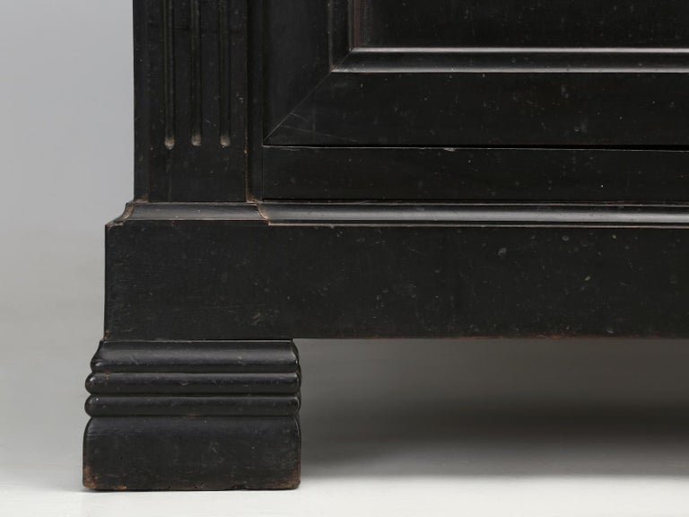Antique French Ebonized Bookcase that is 100% Original, Including the Finish For Sale 12