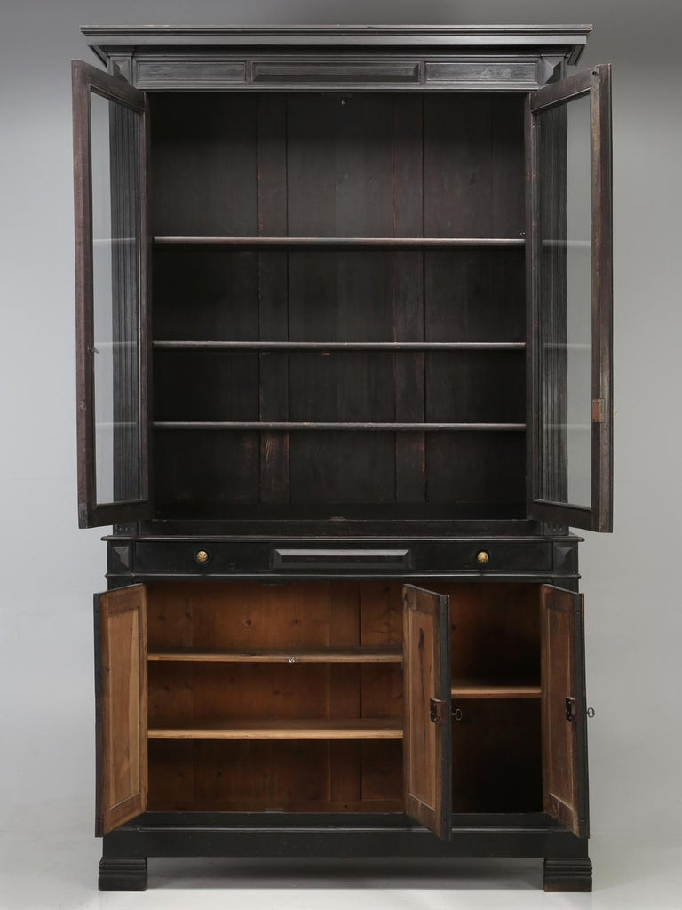 Antique French Ebonized Bookcase that is 100% Original, Including the Finish For Sale 13