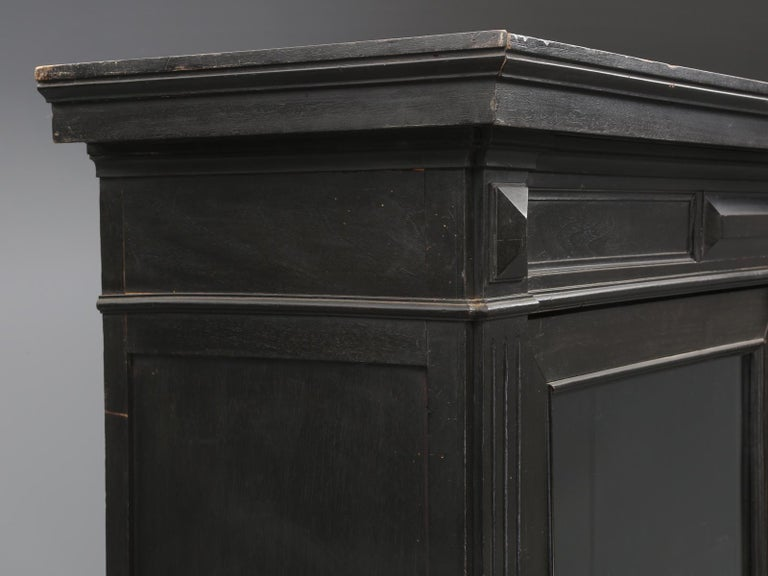 Louis XVI Antique French Ebonized Bookcase that is 100% Original, Including the Finish For Sale