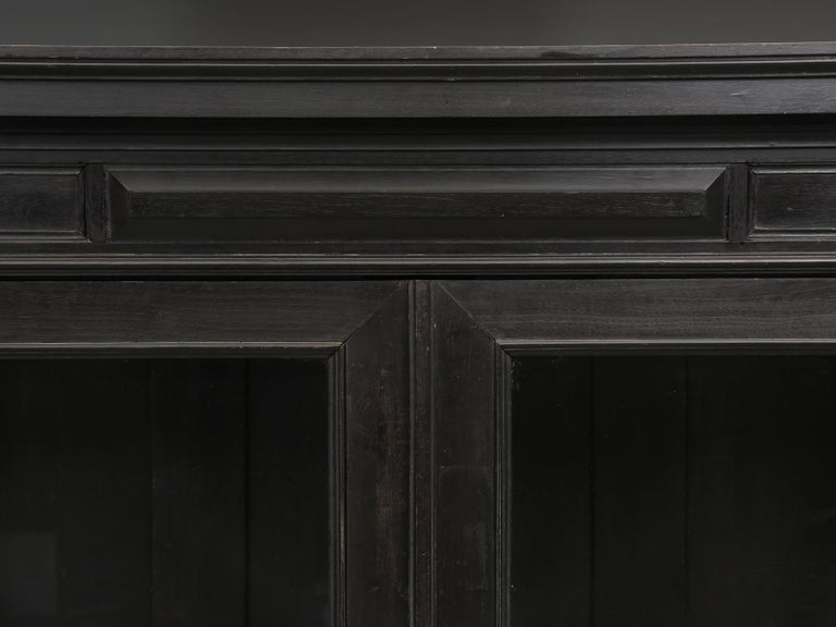 Late 19th Century Antique French Ebonized Bookcase that is 100% Original, Including the Finish For Sale
