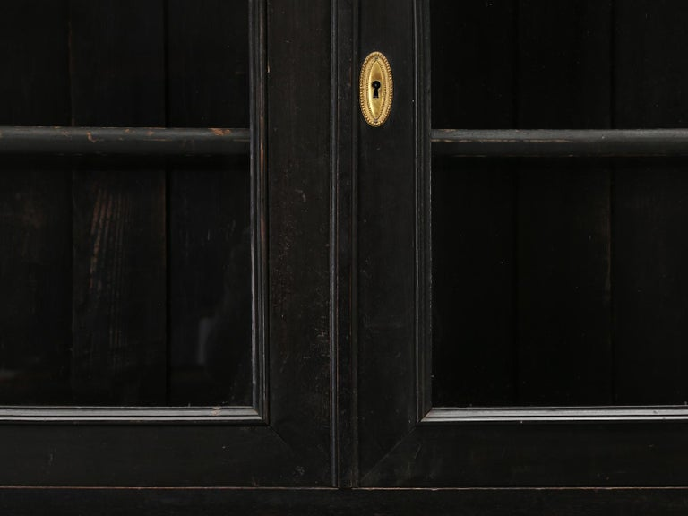 Antique French Ebonized Bookcase that is 100% Original, Including the Finish For Sale 2