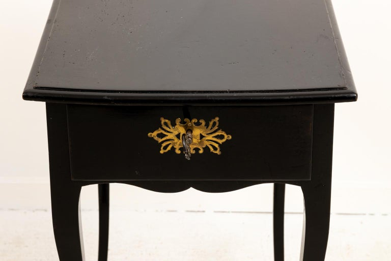 French Provincial Antique French Ebonized Writing Desk For Sale