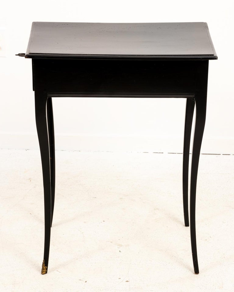19th Century Antique French Ebonized Writing Desk For Sale