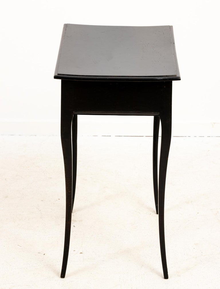 Bronze Antique French Ebonized Writing Desk For Sale