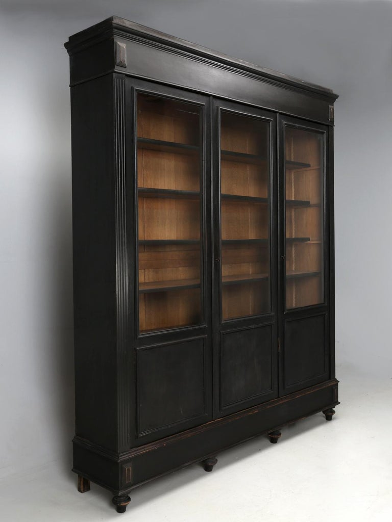 Antique French Ebony Bookcase, in Its Original Finish 2