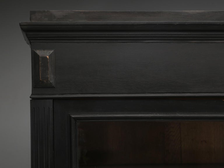 Antique French Ebony Bookcase, in Its Original Finish 3