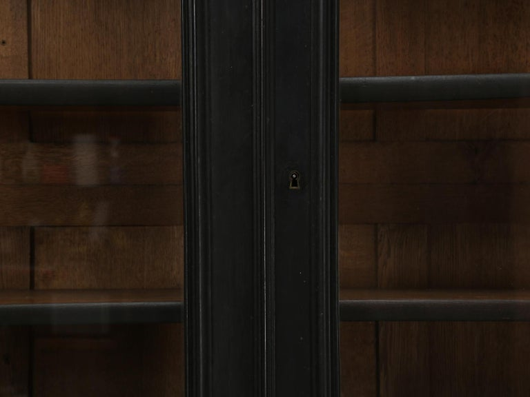 Antique French Ebony Bookcase, in Its Original Finish 4