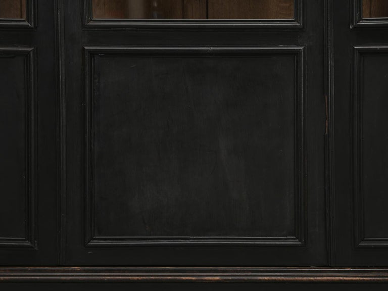 Antique French Ebony Bookcase, in Its Original Finish 6