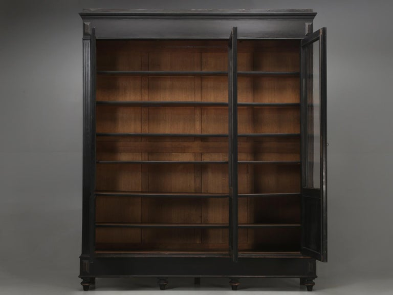 Antique French Ebony Bookcase, in Its Original Finish 9