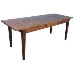 Antique French Elm Farm Table