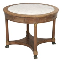 Antique French Empire Center Hall Table or Side Table with a Great Patina