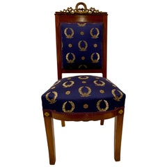 Antique French Empire Mahogany Side Chair, circa 1890