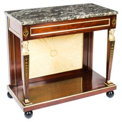 Antique French Empire Marble Top & Ormolu Console Table, 19th Century
