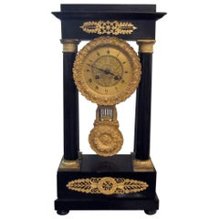 Antique French Empire Portico Clock, circa 1820