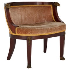 Antique French Empire Style Armchair