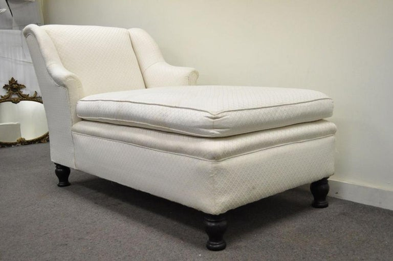 Antique French Empire Style Chaise Longue Fainting Couch