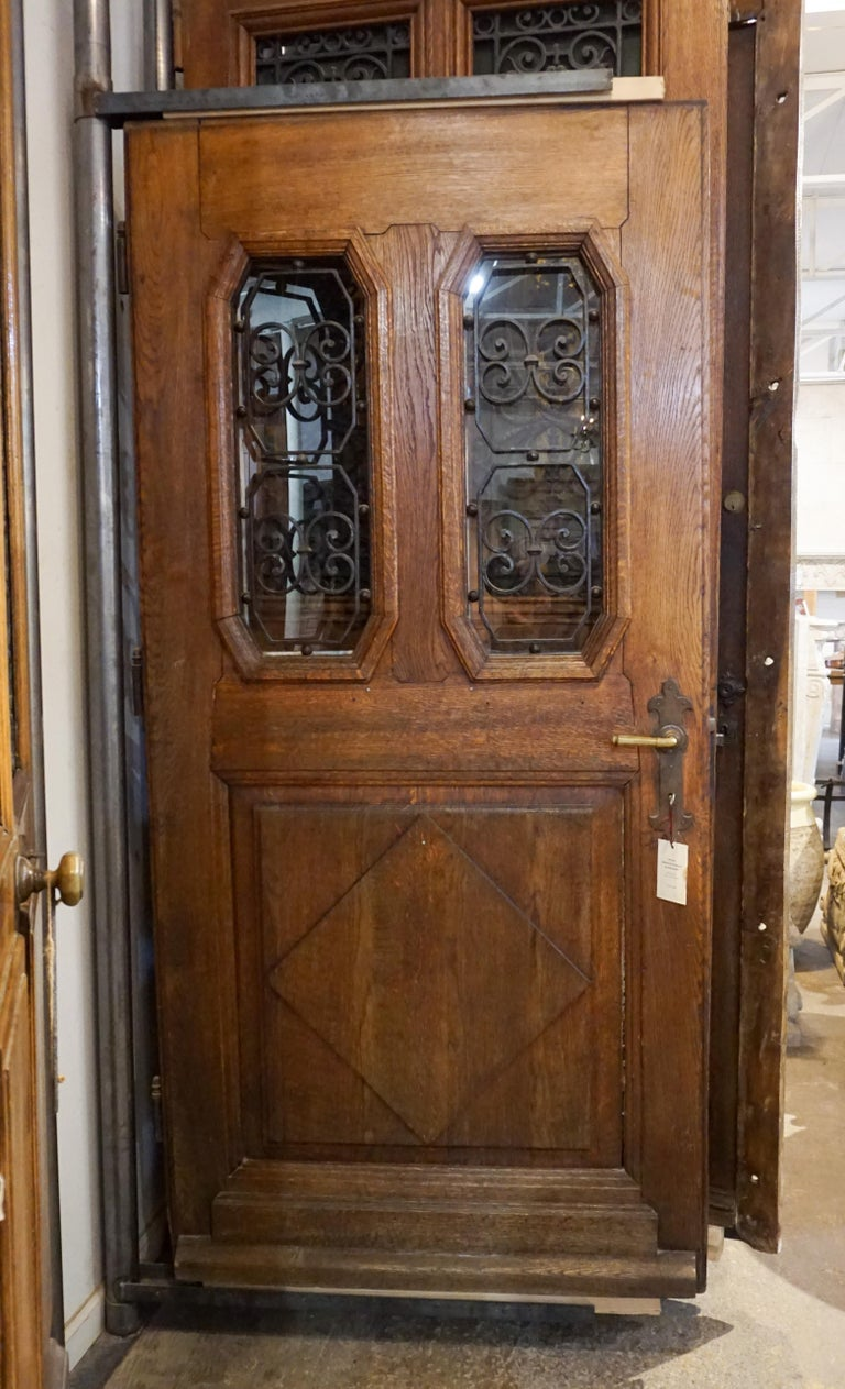 Antique French Entry Door, circa 1890 In Good Condition For Sale In Dallas, TX