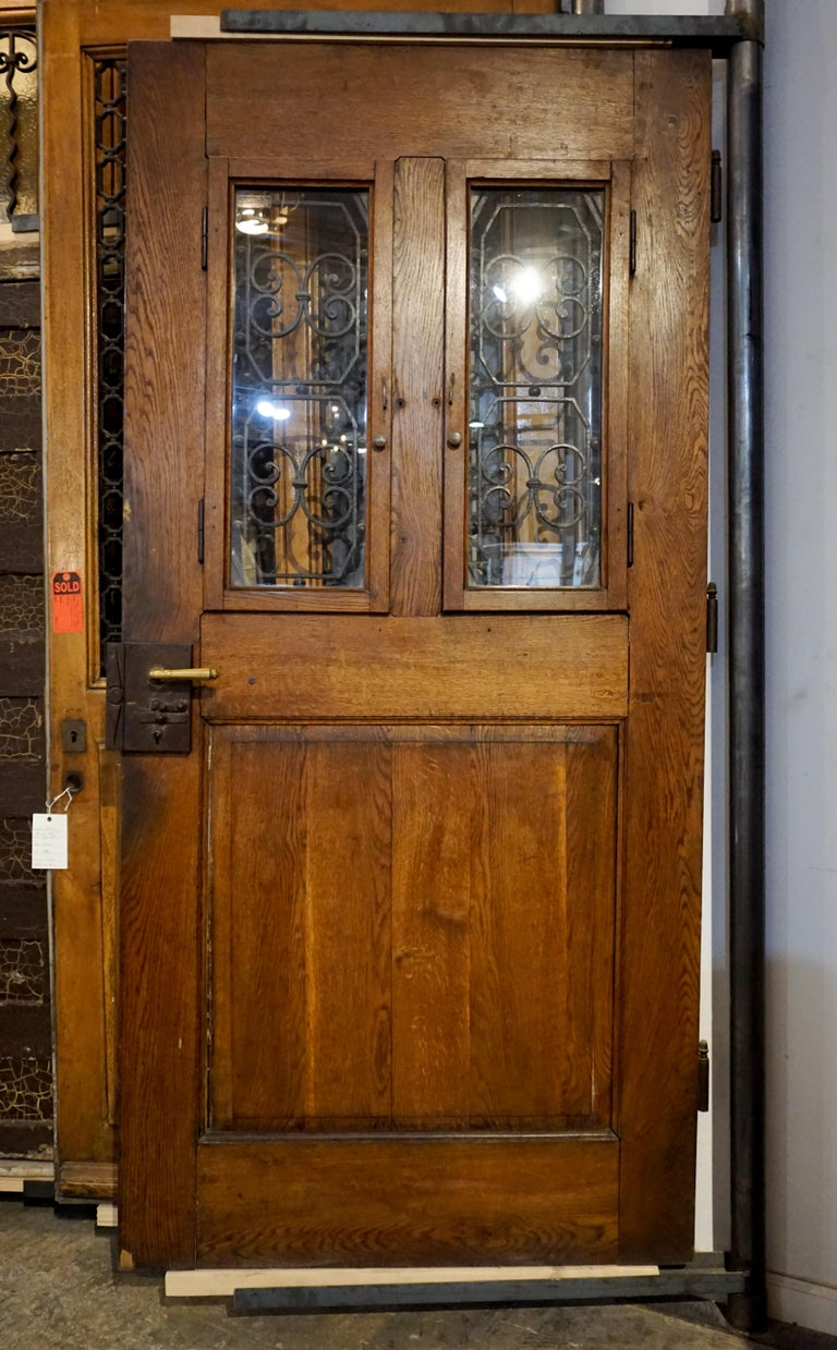 Antique French Entry Door, circa 1890 For Sale 1