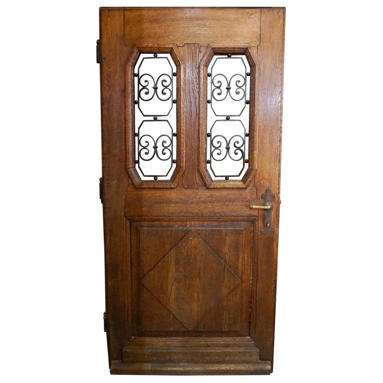 Antique French Entry Door, circa 1890 For Sale