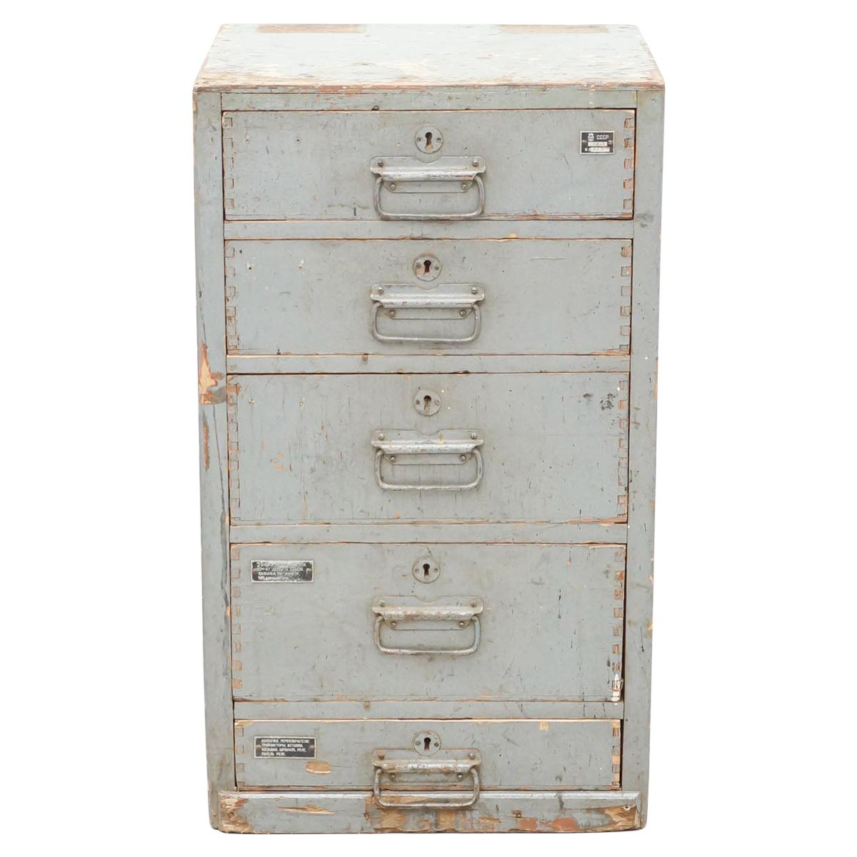 Antique French Filing Cabinet, circa 1940