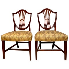 Antique French Fine Walnut Side Chairs, circa 1880