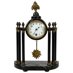 Antique French Fireplace Clock from circa 1840 with Gilding