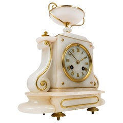 Antique French Fireplace Clock in Marble from circa 1820s